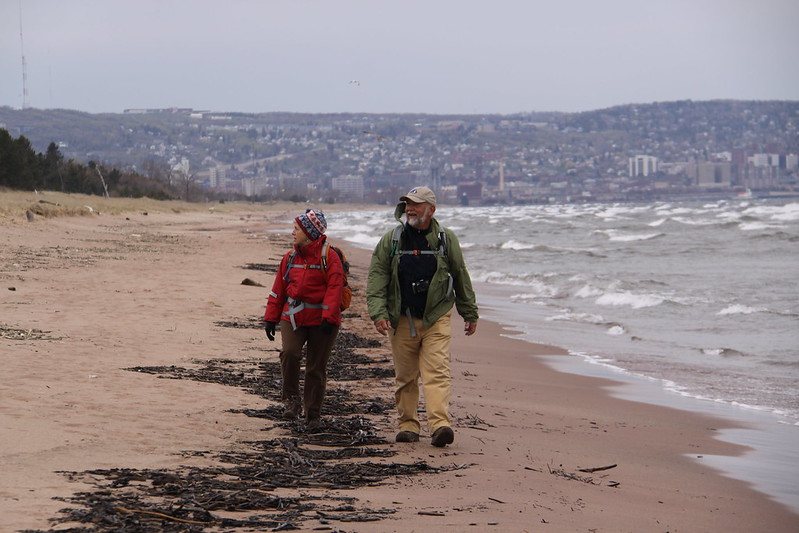 Mike Link and Kate Crowley begin their journey around Lake Superior