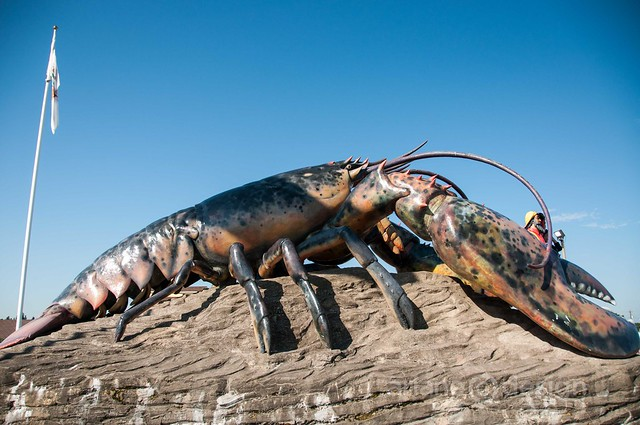 World's Largest Lobster sculpture, Shediac, New Brunswick