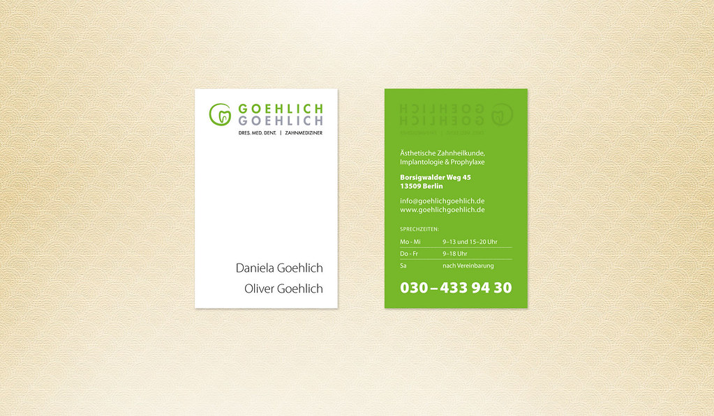 New business card – designed for both, Mr. and Mrs. Goehlich