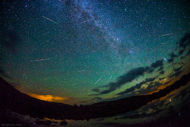 2012 Perseid Meteors on Taylor Pass Colorado