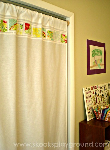 Sewing Room Closet Curtain