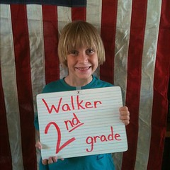 2nd grade excitement! Go Walker! #homeschool #hsmommas
