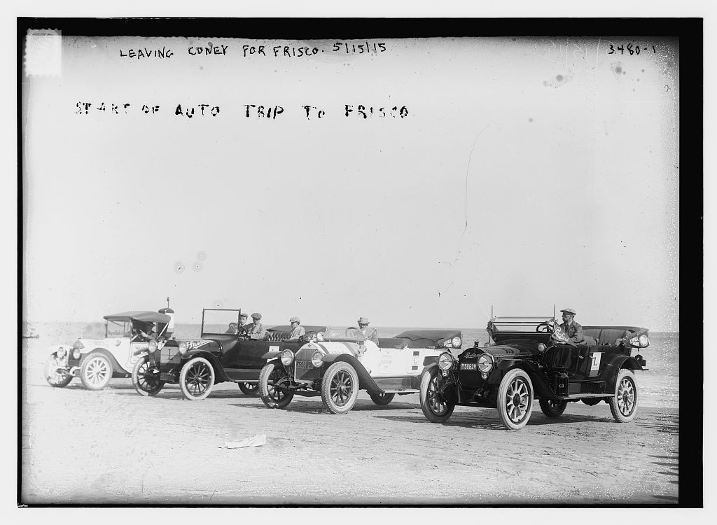 Start of auto trip to Frisco.  Leaving Coney [Island] for Frisco 5/15/15  (LOC)