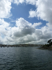 Cloudy sky over Falmouth Harbour