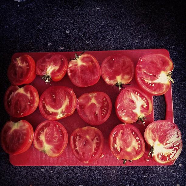 Tomate que vai virar molho de tomate