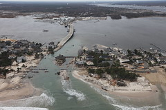 PHOTO: Aerial photo of Mantoloking, New Jersey after Hurricane Sandy. Credit: Greg Thompson/USFWS