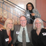 IWU Career Center Director Warren Kistner with ISCPA Staff --