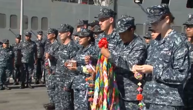 Japanese Citizens Send Gifts to USS Harpers Ferry