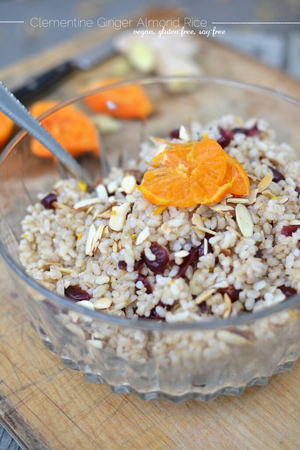 Clementine Ginger Almond Rice - vegan, gluten-free, soy-free