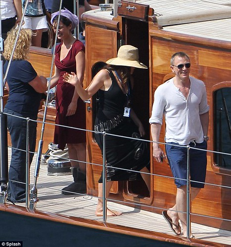 Daniel Craig on Regina charter yacht