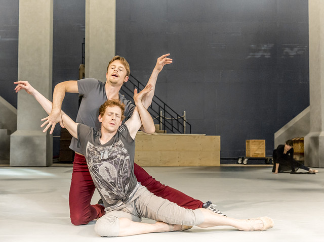 Edward Watson and Christopher Wheeldon in rehearsal for The Winter's Tale © ROH/Johan Persson, 2014