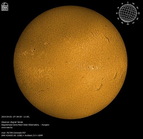 Sun – H-alpha mosaic -2014.04.03. - Bognár Tamás