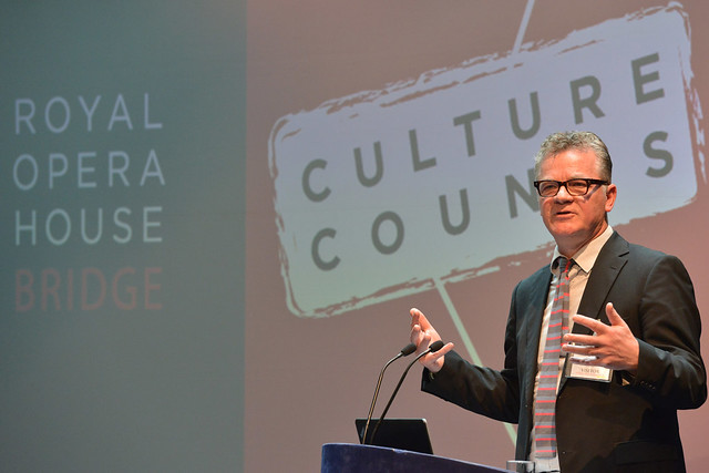 Kevan Collins speaking at the ROH Bridge Culture Counts conference © ROH / Brian Slater