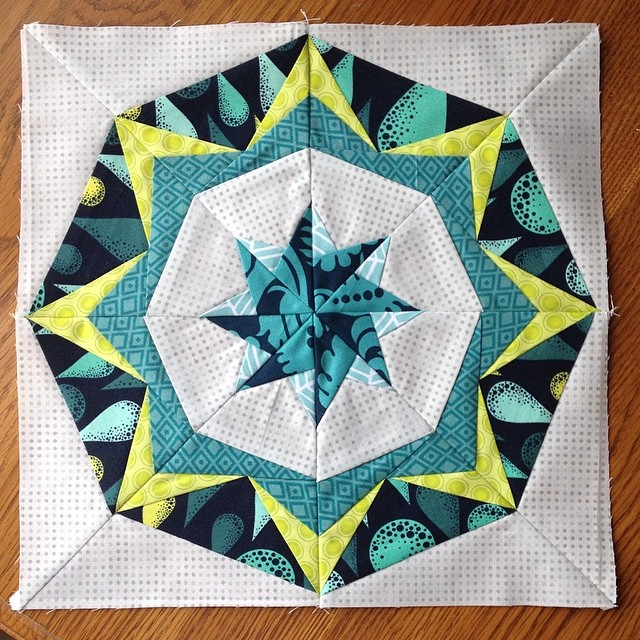 "I was a bit intimidated by this October ""Chaos"" #luckystarsbom block @dontcallmebetsy but now I think it's my favorite!!"
