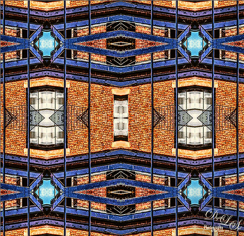 Kaleidoscope image of a building