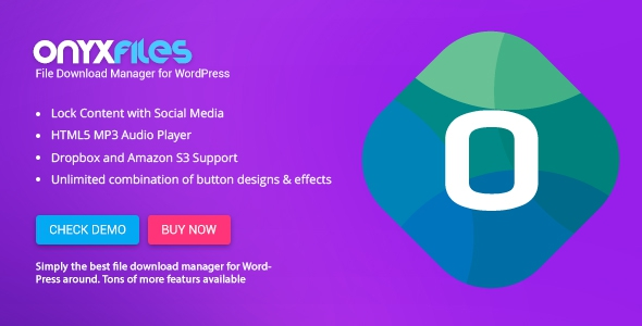 Onyx Files v3.0 - File Download Manager for WordPress