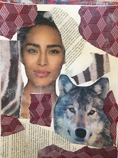Week 24 - Red Riding Hood and Wolf- Collage Layer