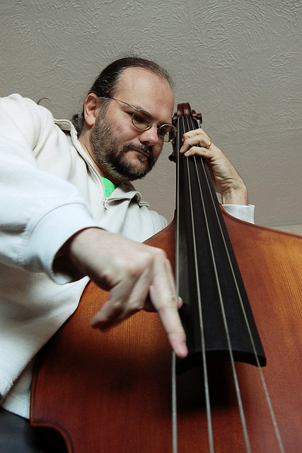 Wulf playing double bass