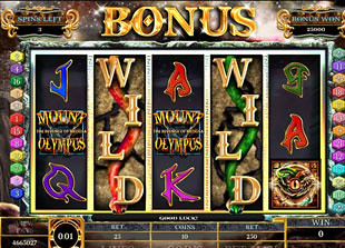 Mount Olympus Bonus Game