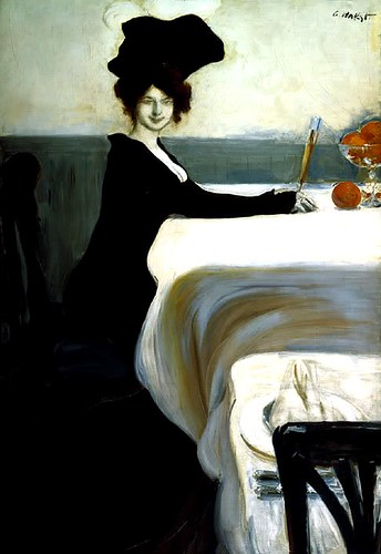 Bakst, Leon (1866-1924) - 1902 Supper by RasMarley