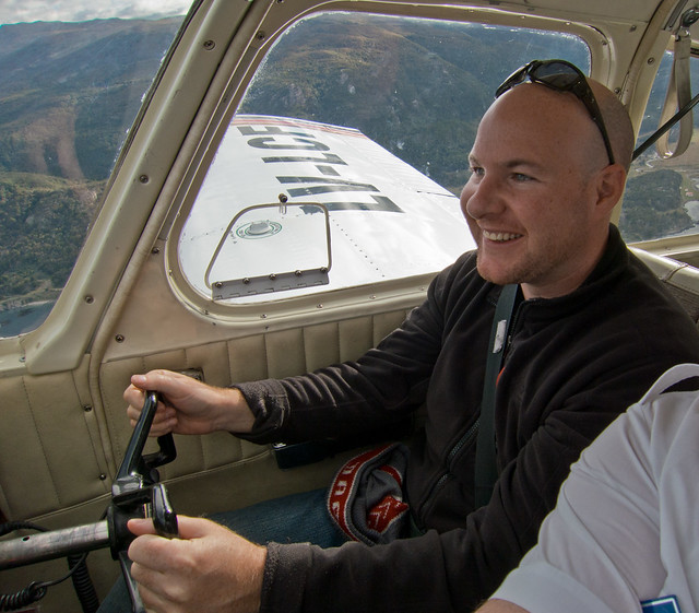 Flying a plane for the first time