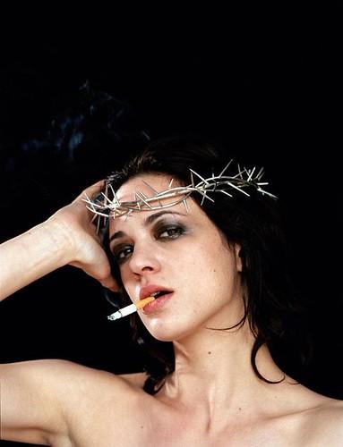 Woman smoker..