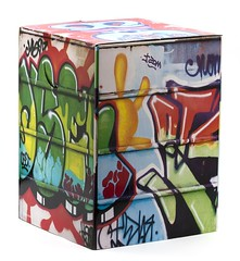 Graffiti Cardboard Stool