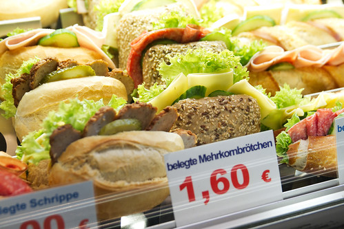 Sandwich and pastry stand at Nollendorfplatz