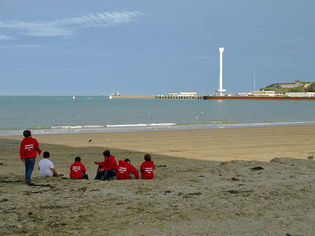 Weymouth Beach, looking across to the Tower