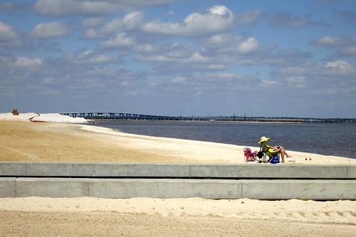 travel sky beach mississippi construction sand baystlouis peopleinthesun