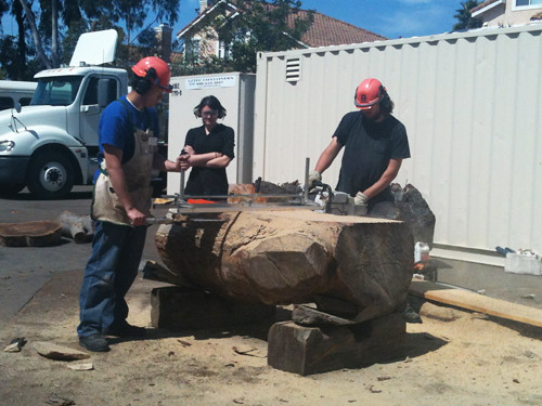 Wood cutting at school