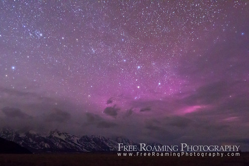 Northern Lights over Jackson Hole, Wyoming