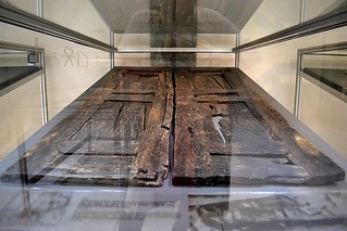 "Wooden Doors off the ""Temple of Isis"", Kenchreae, Isthmia Museum, July 2011"