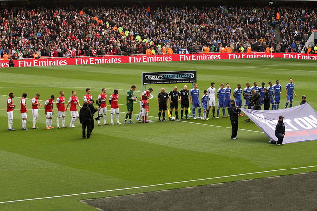 Arsenal v Chelsea Line Up 1