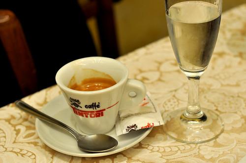 Espresso og grappa