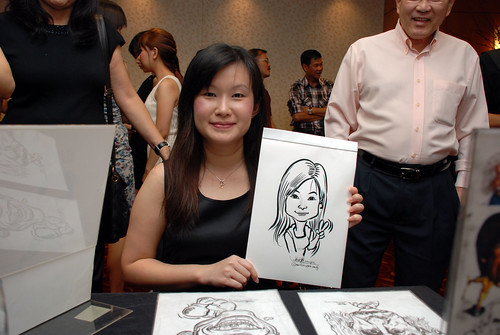 Caricature live sketching for The Bank of East Asia Staff Annual D&D - 12