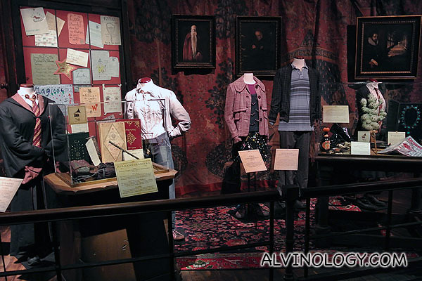 Movie costumes worn by the original cast of Harry Potter