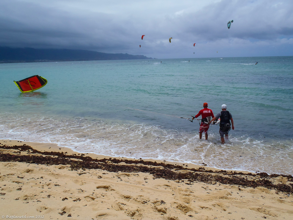 vacation photo of kiteboarding in Maui