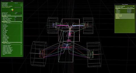 rFactor2 車両挙動および車両セットアップに関する情報の集め方 ISI開発用ツール シャシ エディタ