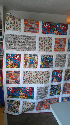 Super Heroes Quilt by VioEleven11