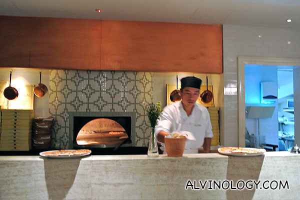Pizzas are their signature, hence the traditional open stove