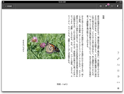 Vertical Japanese text on Kobo for iOS
