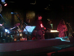 At @sambucahouston to hear Norma, Javier, @randyleeholland and the rest of the band.
