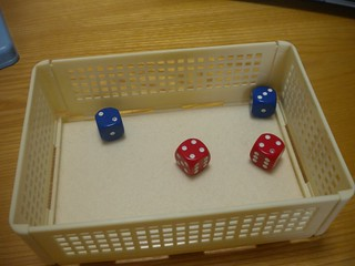 Dice in Lunch Box