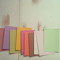 paint samples, prepare to be crafted with.