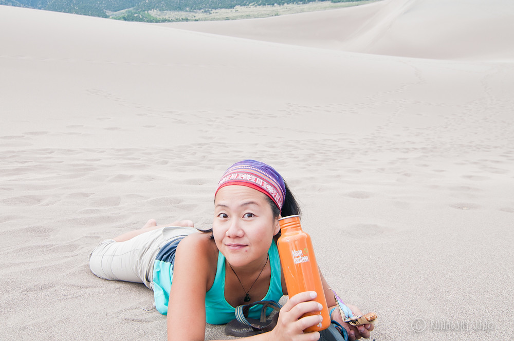Drinking water on the great sand dunes