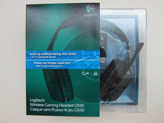 Logitech G930 Wireless Gaming Headset - Box Front