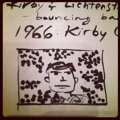 Playing with some Kirby Crackle at the Kirby/Modern Art presentation