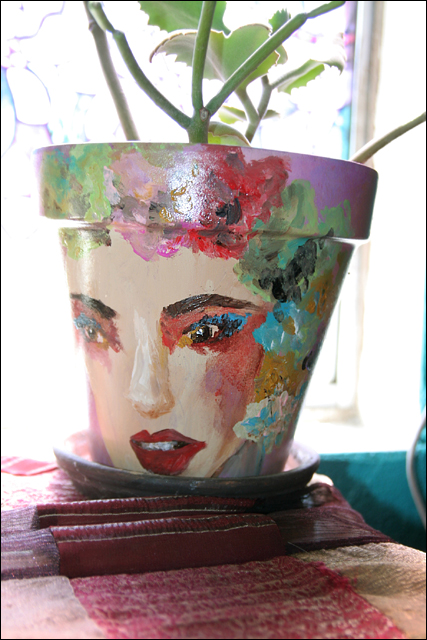 Latest Flower Pot I Painted side II