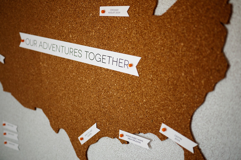 Travel Map Pin Board DIY 10